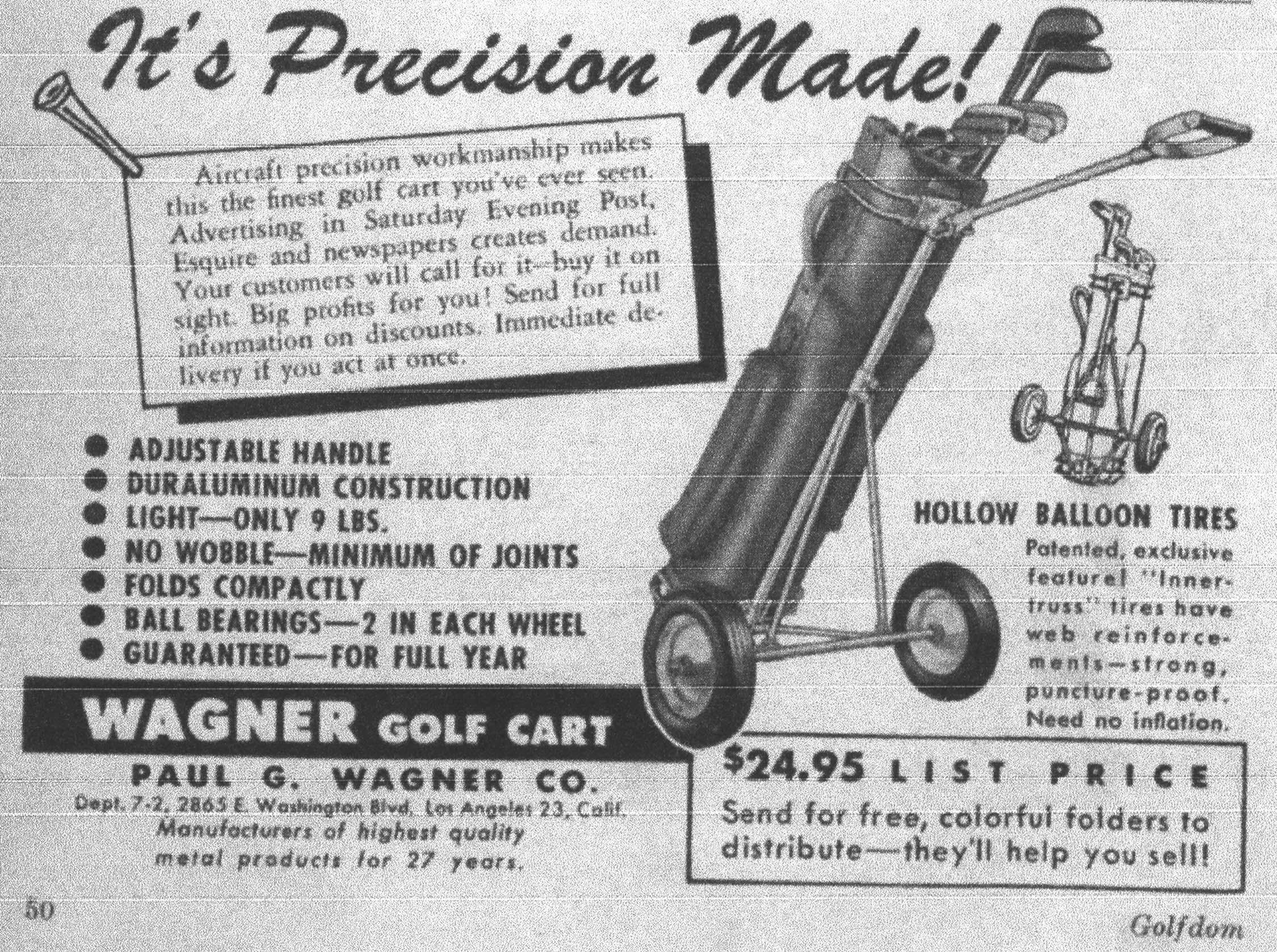 History of Golf Pull Cart |